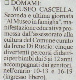 Il Messaggero, sabato 8 marzo 2008