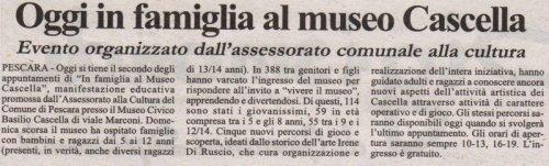 La Cronaca D'Abruzzo, domenica 9 marzo 2008
