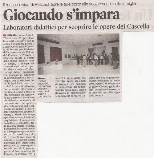 Il Tempo, mercoledi' 24 ottobre 2007